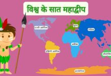SEVEN CONTINENT OF WORLD विश्व के सात महाद्वीप